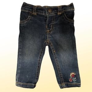Carter's Denim Jeans with Flower Accent, 3 months